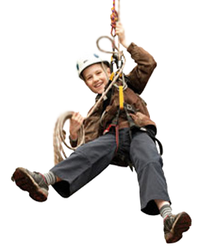 child on rope